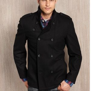 Guess Double Breasted Wool Coat